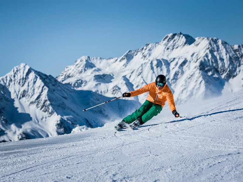 Skiing in the Tauferer Ahrntal