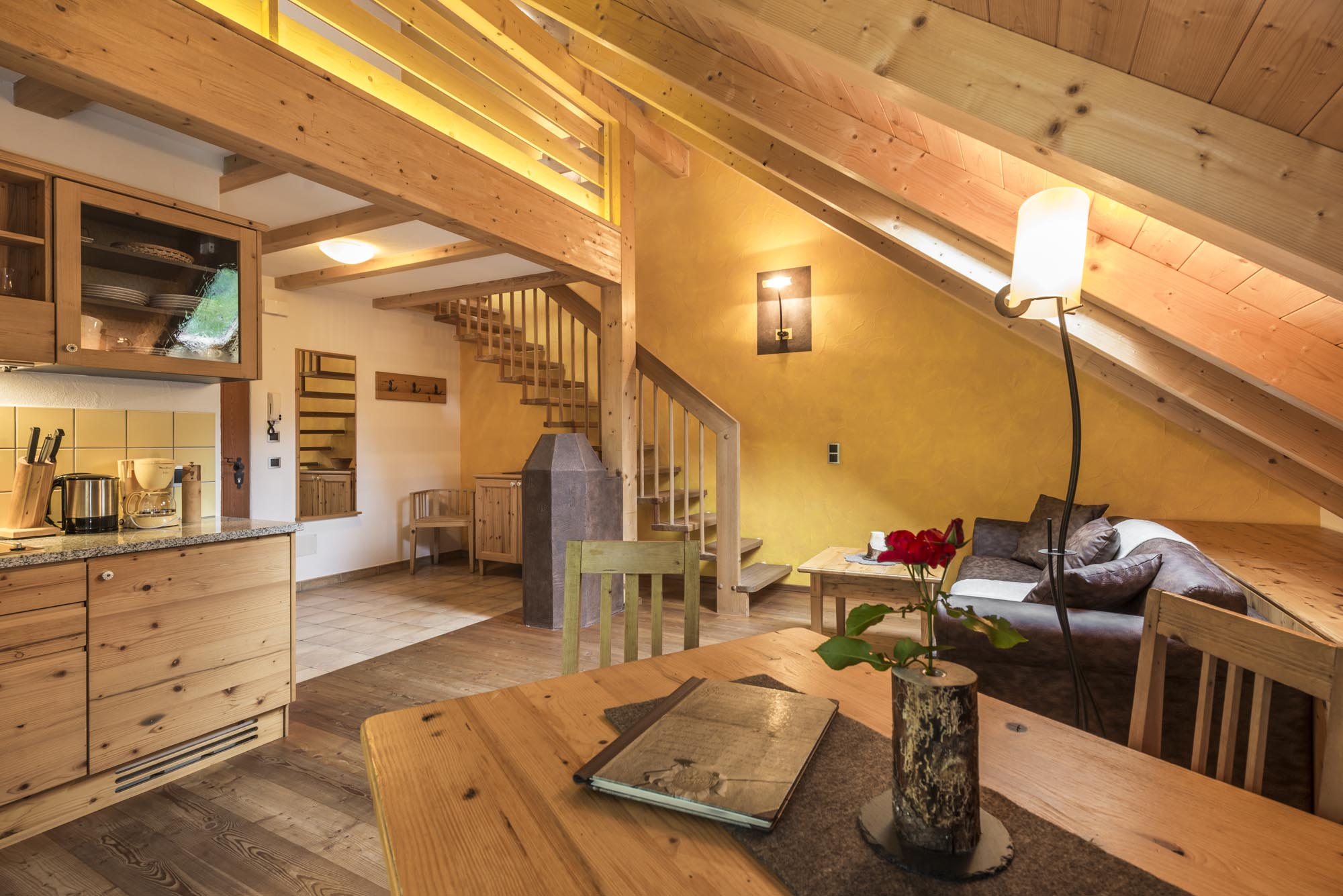 Mansarde Waldrausch II - Appartments in the Ahrntal: Mair zu Hof in Sand in Taufers / South Tyrol